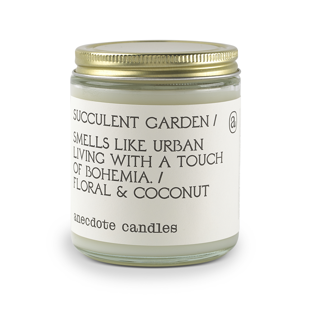 Load image into Gallery viewer, SUCCULENT GARDEN (FLORAL & COCONUT) GLASS JAR CANDLE