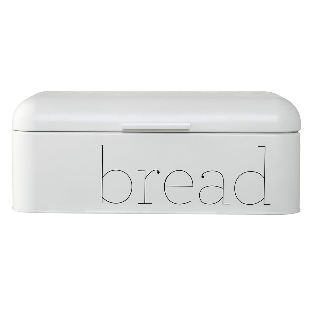 "WHITE METAL ""BREAD"" BIN"