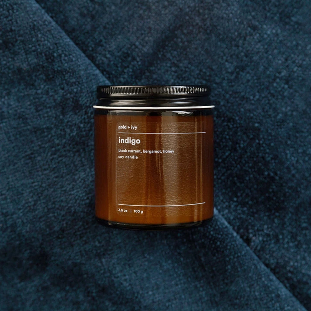 Load image into Gallery viewer, INDIGO 3.5 OZ SOY CANDLE