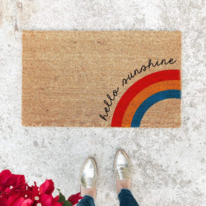 Load image into Gallery viewer, HELLO SUNSHINE RAINBOW | WELCOME MAT
