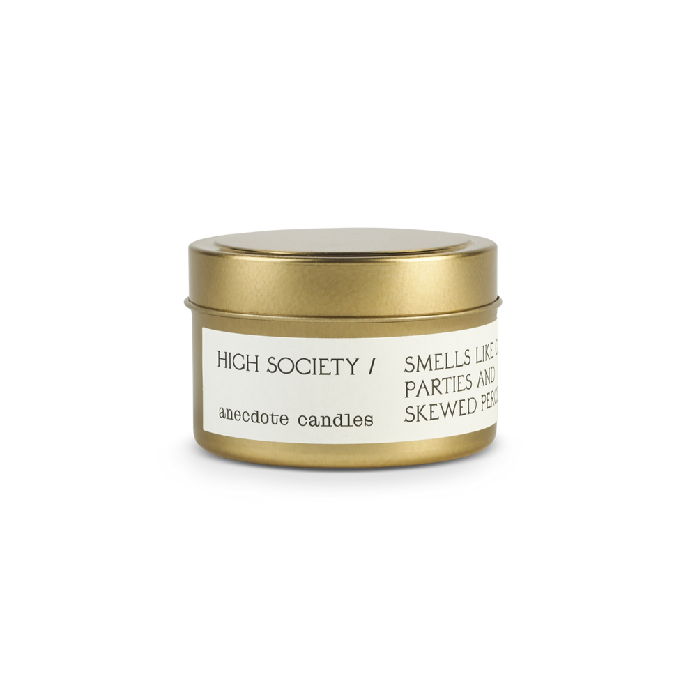 HIGH SOCIETY (CANNIBIS FLOWER) TRAVEL TIN CANDLE