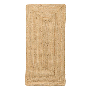 SMALL BEIGE RECTANGLE NATURAL SEAGRASS RUG