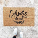 CUSTOMIZABLE LAST NAME | WELCOME MAT