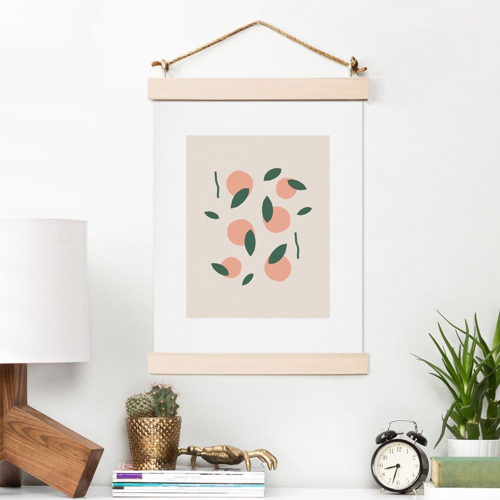 MAMBO ART STUDIO PEACHES AND ORANGES ART PRINT