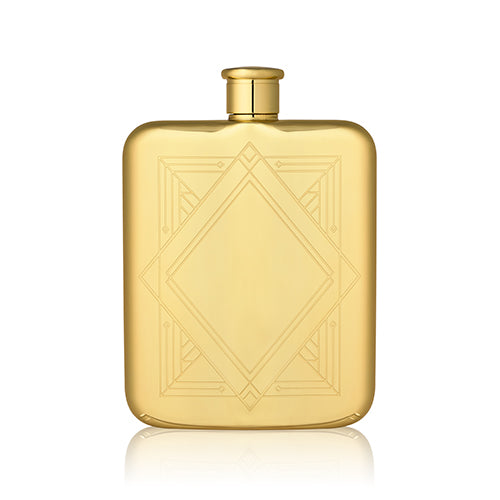 GOLD ART DECO FLASK