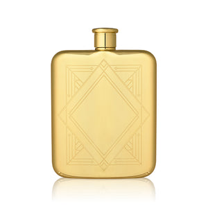 Load image into Gallery viewer, GOLD ART DECO FLASK