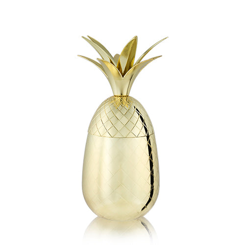 Load image into Gallery viewer, 16OZ GOLD PINEAPPLE TUMBLER