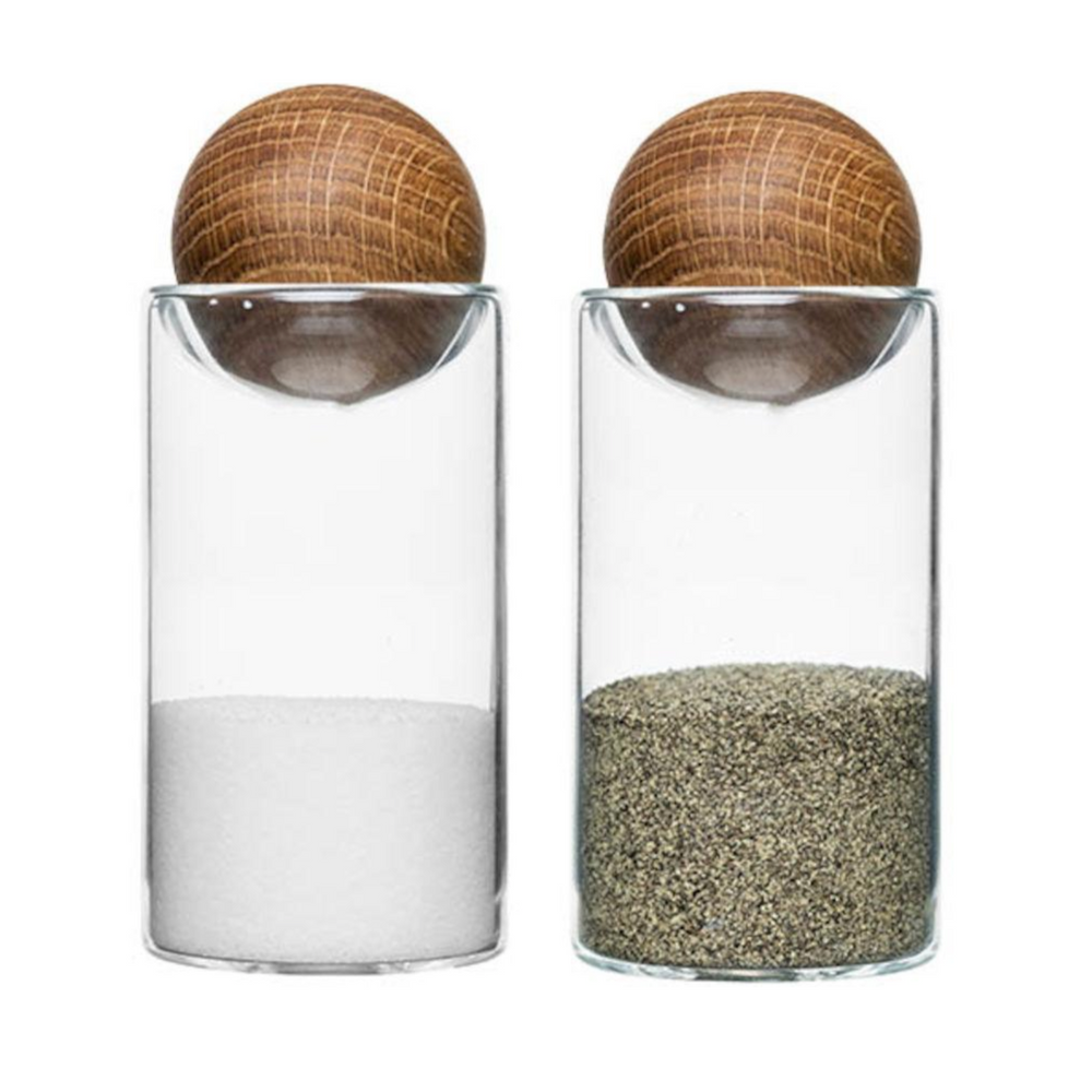 NATURE SALT & PEPPER SHAKERS
