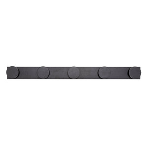 RUBBERWOOD WALL HOOK - BLACK