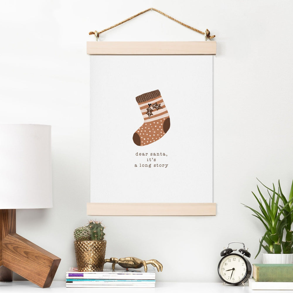ORARA STUDIO DEAR SANTA IT IS A LONG STORY ART PRINT