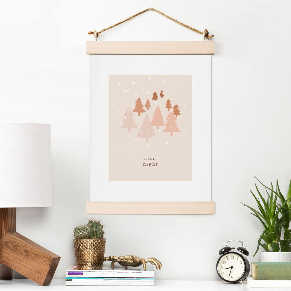 Load image into Gallery viewer, ORARA STUDIO SILENT NIGHT TYPOGRAPHY ART PRINT