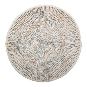 Load image into Gallery viewer, 4' ROUND COTTON PRINTED RUG WITH STARBURST DESIGN