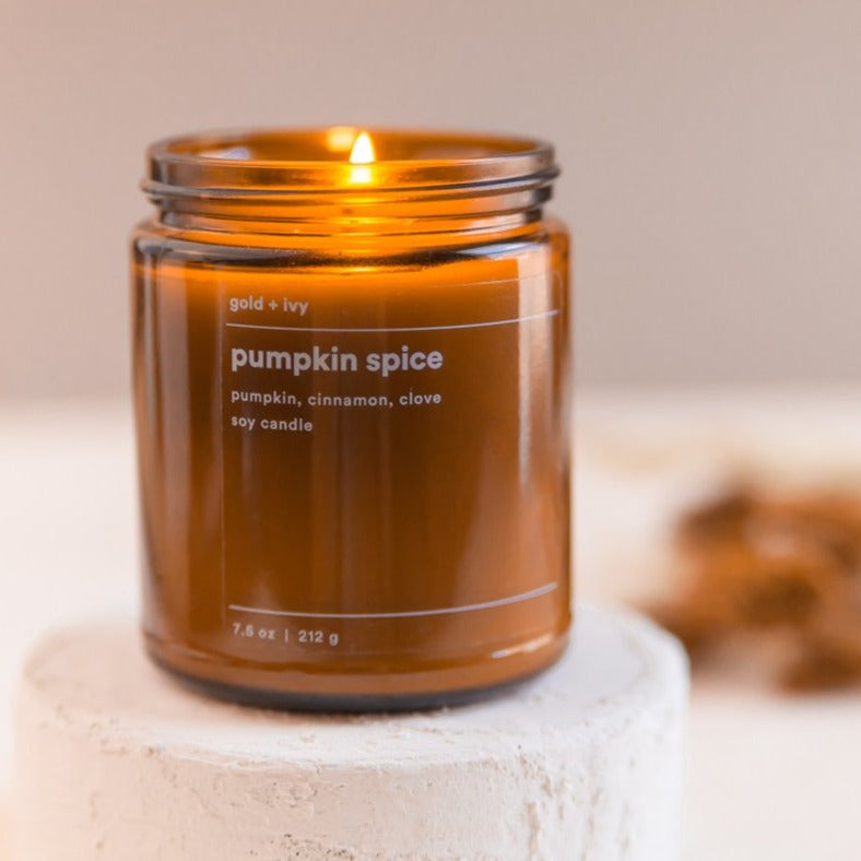 PUMPKIN SPICE 7.5 oz. SOY CANDLE