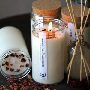 Load image into Gallery viewer, ROSE SANDALWOOD APOTHECARY CANDLE