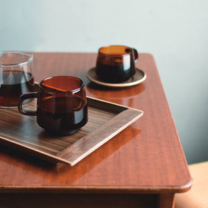 "Load image into Gallery viewer, SEPIA WALNUT NONSLIP TRAY, 17"" x 8"""