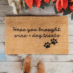 WINE & DOG TREATS | WELCOME MAT