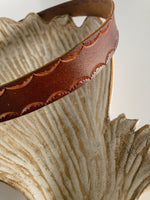 Load image into Gallery viewer, Brown leather tooled headband