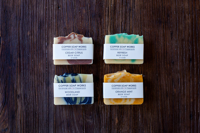 All natural handmade beer soap gift set