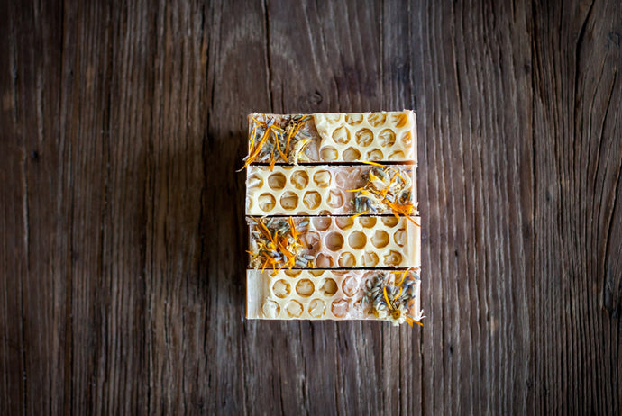 All natural handmade orange blossom honey  soap