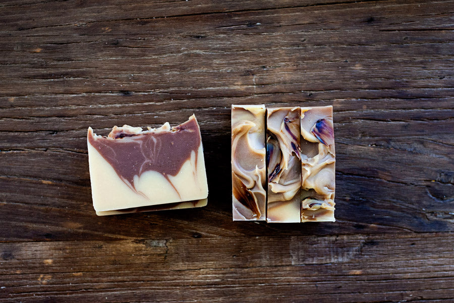 All natural handmade Cedar Citrus Beer Soap