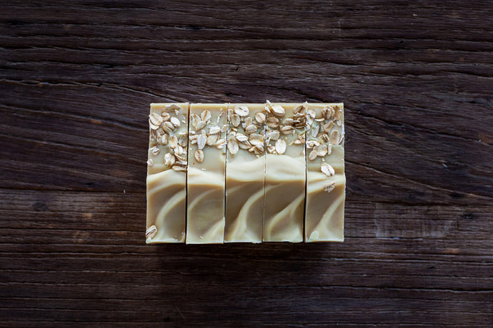 all natural handmade milk + honey soap