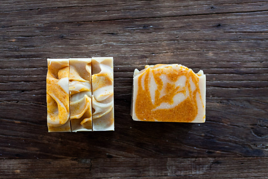 All natural handmade beer soap