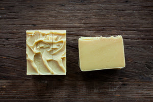 shea, cocoa and mango butters goat milk soap