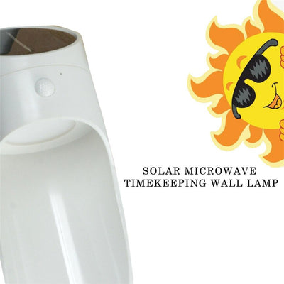 Super Solar Power Microwave Radar Sensor Timekeeping LED Light