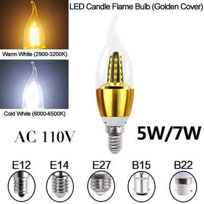 Candle Bulb Energy Saving Chandelier Home Decoration Spotlight