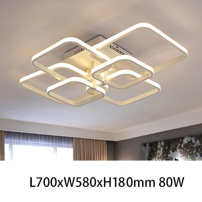 Rectangle Acrylic Aluminum Modern LED Ceiling Lamp Fixtures
