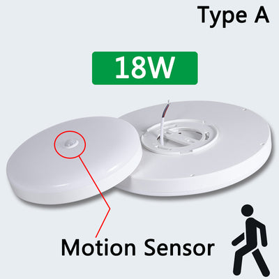 Motion Sensor Surface Mounted LED Ceiling Light Fixtures