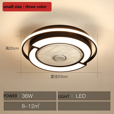 Modern intelligent LED dimming remote control ceiling fan light