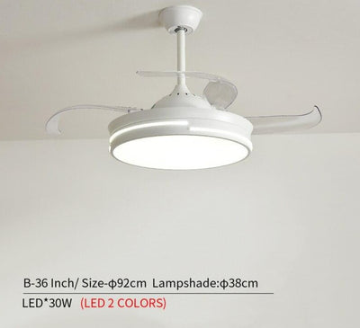 Modern 220V Wooden Led Ceiling Fans Lamp With  Remote Control