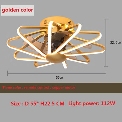 Ceiling Fans with 112w 3 Color-Changing