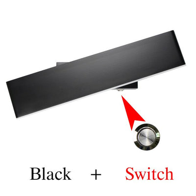 LED indoor Nordic wall light with switch