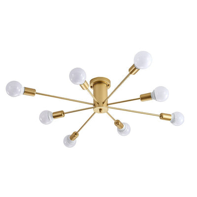 Retro spider Semi flush mount ceiling lamp fixture