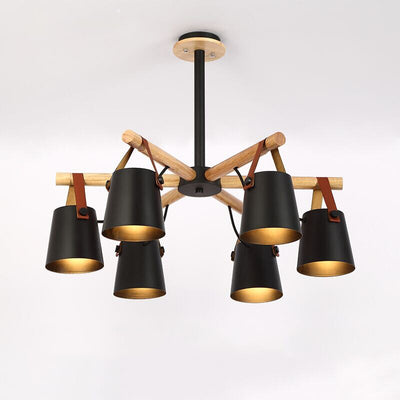 Designer Wooden Lustres Foyer Hanging Lighting