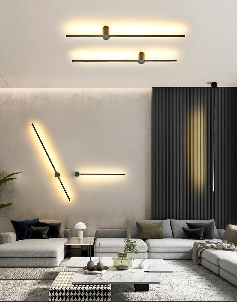 Modern Black/Sliver LED Ceiling Suspended pendant Light