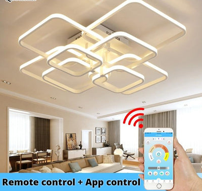 Smart LED Ceiling Lights Fixture - RC + App Control