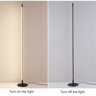 Nordic LED  Vertical Strip Round Stick Floor lamp