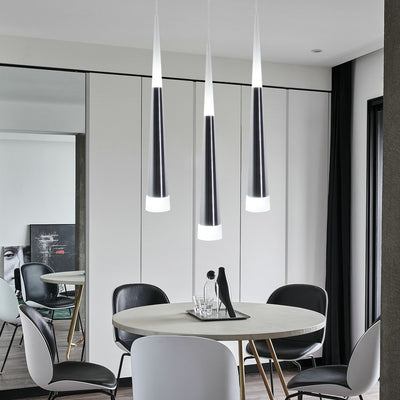 Silver Conical LED Creative Pendant Light