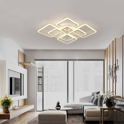 Acrylic hardware New modern led chandeliers for living room bedroom dining room