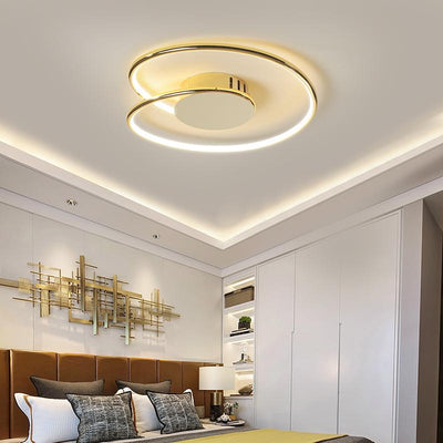Lighting Garner - Chrome/Gold Plated Modern LED Ceiling Lamp Fixtures
