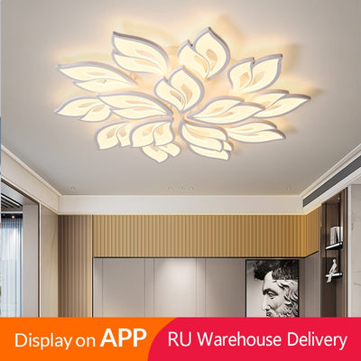 3-15 Petals Flowers Unique Design LEDs Chandelier Lighting Fixtures