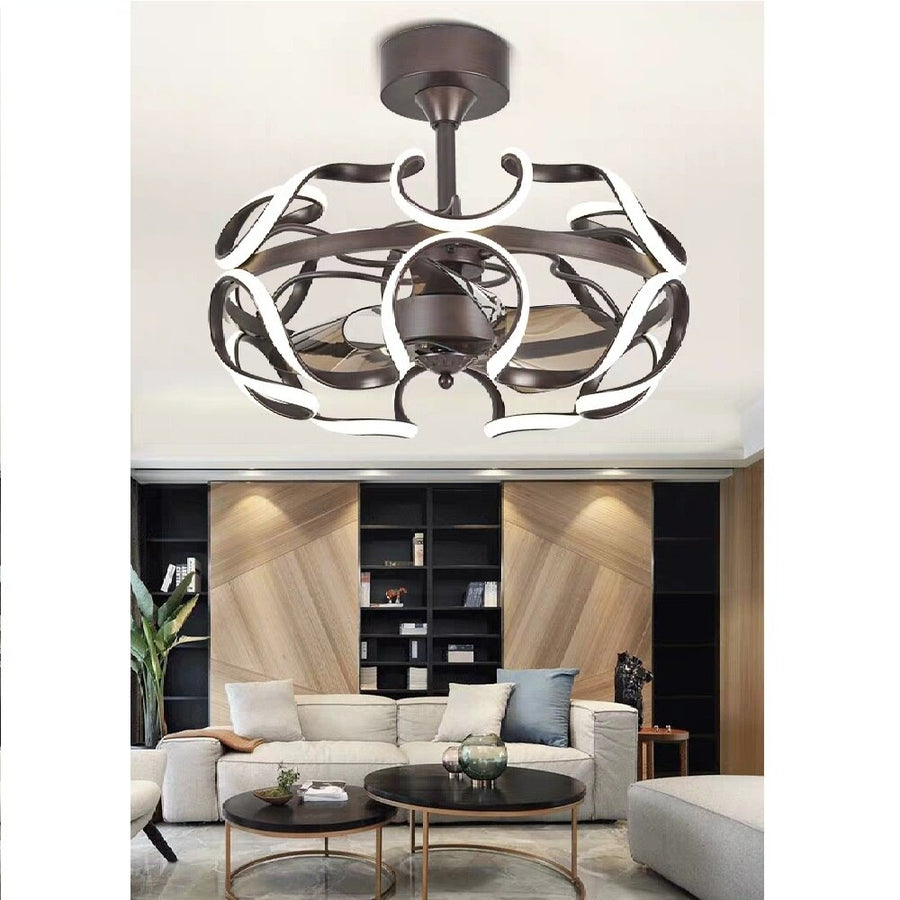 Nordic Invisible Fan lights Frequency Conversion Chandelier with Remote Control