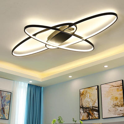White/Black Dimmable Remote Controller Modern LED Chandelier Fixtures