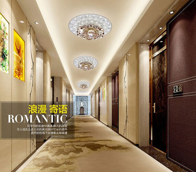 Creative LED Crystal ceiling lamp for Corridor