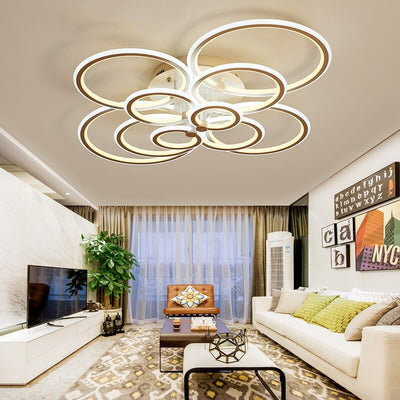 Double Glow Modern led chandelier for living room
