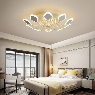 Crystal Modern LED Ceiling Chandelier Deluxe With RC Dimming