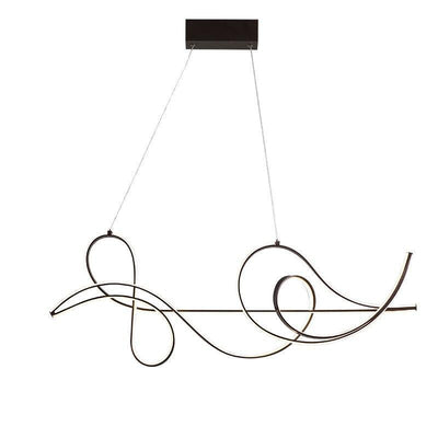 Lighting Garner - Modern Coffee Finish Hanging Chandelier Fixture